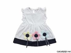 Papatyalı Kız Çocuk Elbise