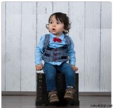Kot Pantolonlu Küçük Adam Bebek Takım