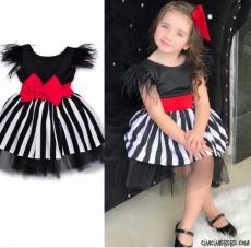 Tüylü Kokoş Kız Çocuk Elbise