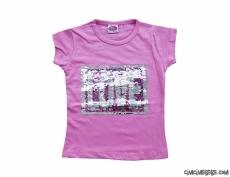Renk Değiştiren Pullu Kız Çocuk T-Shirt
