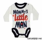 Little Man Baskılı Bebe Badi