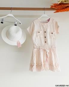 Şapkalı Kız Çocuk Elbise