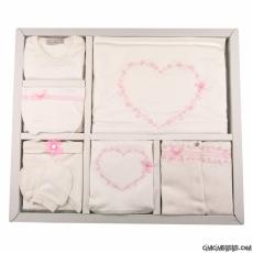 Kalpli Işlemeli Kız Bebek 10'lu Zıbın Seti
