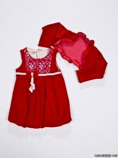 Bolerolu Kadife Balon Elbise