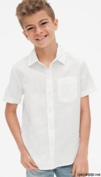 Kısa Kollu Erkek Çocuk Gömlek