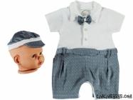 Şapkalı Bebe Kısa Tulum