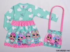 Çantalı Sürpriz Kız Çocuk Elbise