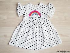Pretty Girl Puanlı Kız Bebek Elbise
