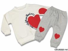 Kalp Desenli Kız Bebek Eşofman Takımı