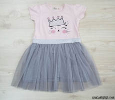 Tüllü Prenses Kız Çocuk Elbise