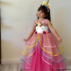 Little Pony Kız Çocuk Abiye Elbise