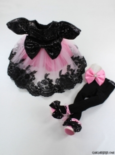 Pullu Kokoş Kız Bebek Özel Gün Kostüm Set