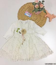 Dantelli Kız Çocuk Elbise