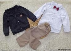 Hırkalı Gömlekli 3'lü Bebek Takım