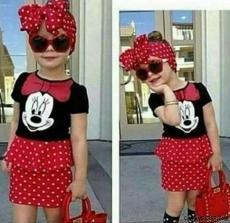 Kız Çocuk Mini Fare Elbise