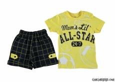 All Star Baskılı Erkek Bebek Şortlu Takım