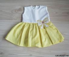 Ekoseli Kız Bebek Elbise