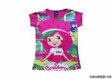 Çilek Kız Kısa Kollu T-Shirt