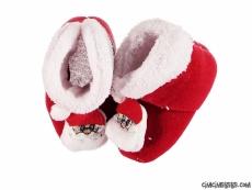 Noel Babalı Yumuşacık Bebek Panduf