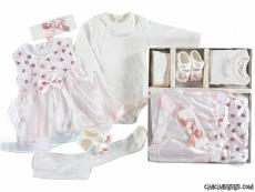 Kalpli Kutulu Kız Bebek Özel Gün Set