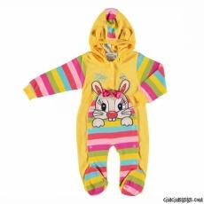 Tavşan Aplikeli Rengarenk Tulum