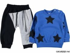 Yıldız Baskılı Bebek Eşofman Takımı