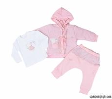 Şişme Hırkalı Soft Kız Bebek Takım