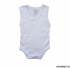 Kolsuz Düz Beyaz Bebek Badi