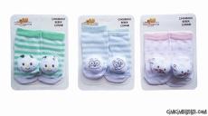 Sevimli Figürlü Çıngıraklı Bebek Çorap