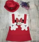Şapkalı Slopetli Kız Çocuk Elbise