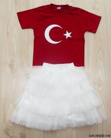Türk Bayrağı T-Shirtlü Tütülü Takım