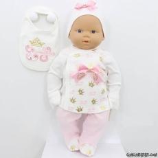Prenses Nakışlı Bebek Zıbın Seti