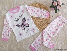 Butterfly Kız Çocuk Pijama Takımı