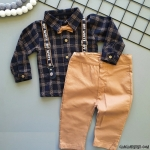 Oduncu Gömlekli Erkek Bebek Takım