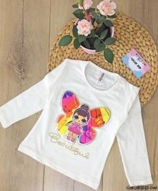 Sürpriz Kahramanlı Kız Çocuk Sweatshirt