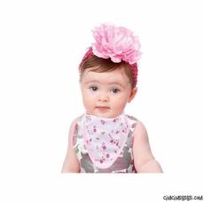 Kız Bebek 3'lü Fular Önlük Set