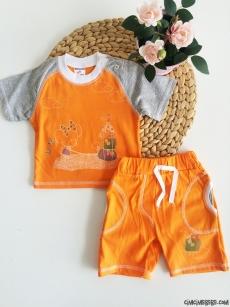 Minik Fare Şortlu Kız Bebek Takım