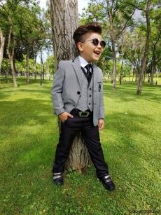 Erkek Çocuk Ceketli Şık Takım Elbise