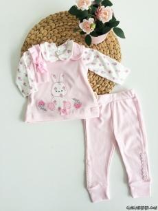 Minik Tavşan 4'lü Bebek Takım