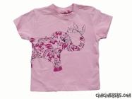 Fil Baskılı Kız Çocuk Tişört