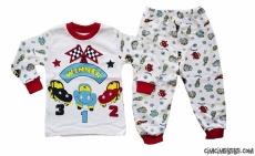Araba Yarışı Bebek Pijama Takımı
