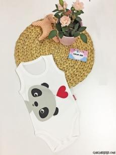 Minik Panda Askılı Bebek Badi