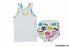 Emoji Kız Çocuk Atlet Külot Takım