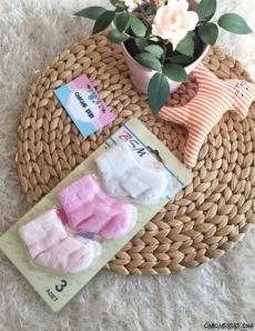 Kız Bebek 3'lü Yenidoğan Çorap Seti