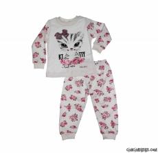 Kedili Kız Çocuk Pijama Takımı