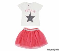 Star Tüllü Etekli Kız Çocuk Takım