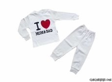 I Love Mom Dad Pijama Takımı