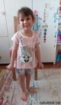 Pullu Şortlu Çantalı Kız Çocuk Takım