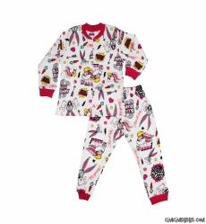 Tavşan Kız Çocuk Pijama Takımı