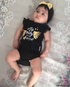 Angel Bandanalı Bebek Badi
